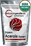 Micro Ingredients Acerola Cherries Organic Vitamin C Powder , 8oz ( Natural Vitamin C)