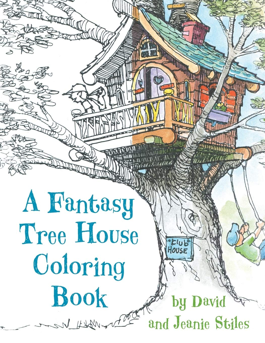 Buy A Fantasy Tree House Coloring Book Book Line At Low