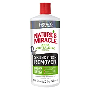 Nature's Miracle Skunk Odor Remover, Odor Neutralizing Formula, Removes Skunk Odor from Pets, Carpets, Clothing and More