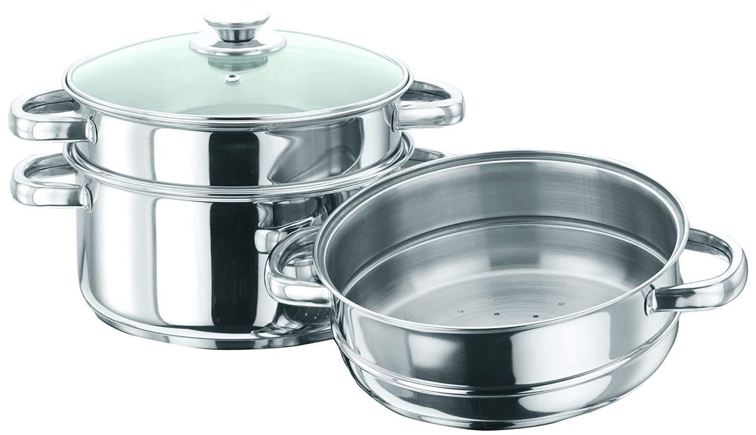 Buy Vinod Cookware 3 Tier Steamer, 20cm Online at Low Prices in ...