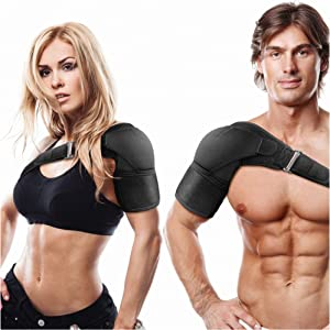 Shoulder Brace for Torn Rotator Cuff, AC Joint Pain Relief, Tendonitis, Bursitis - Orthosis Support and Compression Sleeve - Ice Pack Pocket, Stability Strap, Dislocated Sholder - for Men and Women