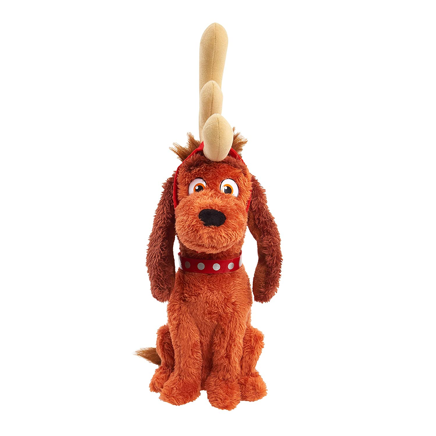 Grinch Max 10 Feature Plush with Removable Antlers Brown Mailer