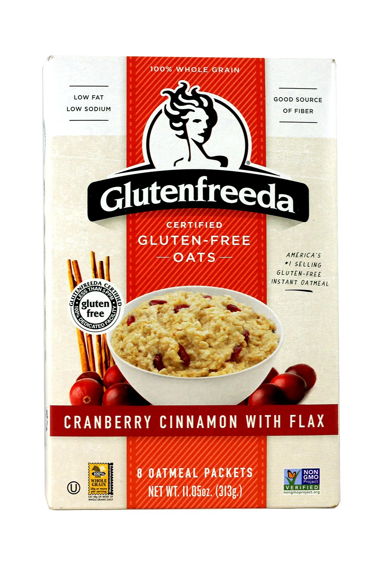 Glutenfreeda Instant Oatmeal, Cranberry Cinnamon With Flax, 11.05 Ounce