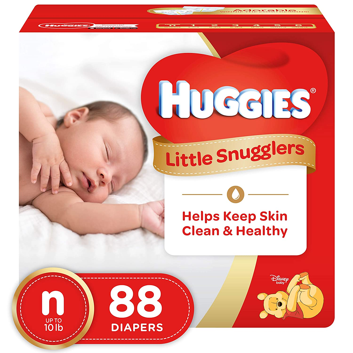 Huggies Little Snugglers Baby Diapers-Size 6, 50 Count Giga Pack Kimberly Clark 10036000464648