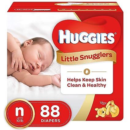 HUGGIES Pañales Little snugglers, para recién nacido, 88 unidades)