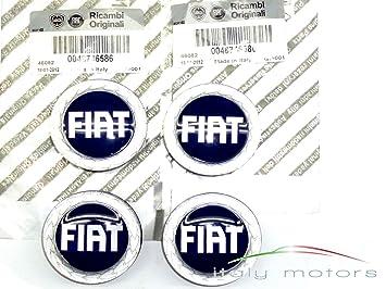 Tapas de llantas Fiat originales, 4 unidades, 46746586: Amazon.es: Coche y moto