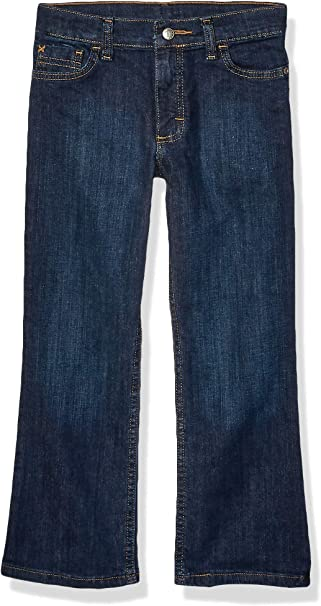 Wrangler Girls Simple Pocket Jeans Boot Cut Indigo