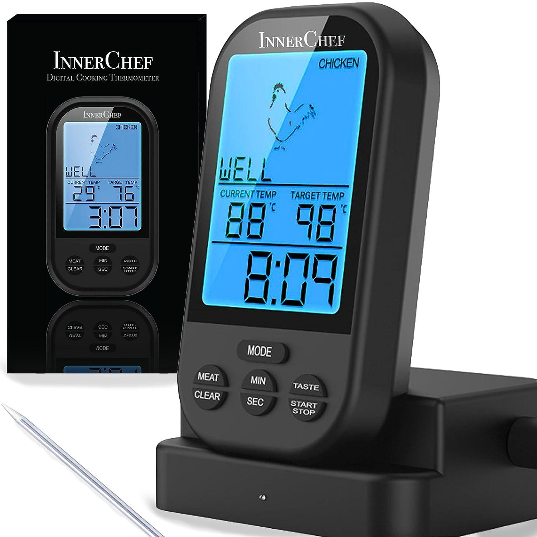 Amazon.com: InnerChef Original IC-7 Digital Meat Thermometer, Remote ...