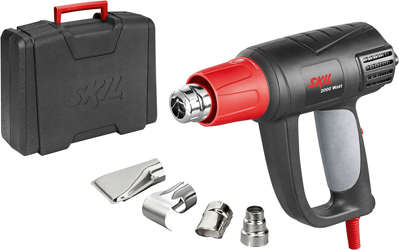 Skil 8004AA Pistolet Air Chaud / Décapeur Thermique Digital avec Température réglable variable (2000W, LCD, Buses, Coffret)