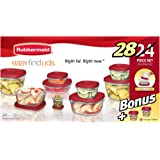 Rubbermaid 24-Piece plus 4-Piece Bonus, Easy Find Lids Food Storage Container Set