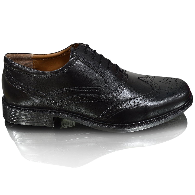 Men's Oaktrak Oxford Classic Formal Brogues Real Genuine Leather in Black or Brown B01N8OLPD7