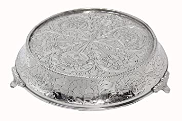 Amazoncom Glittering Silver Wedding Cake Stand Tapered 18