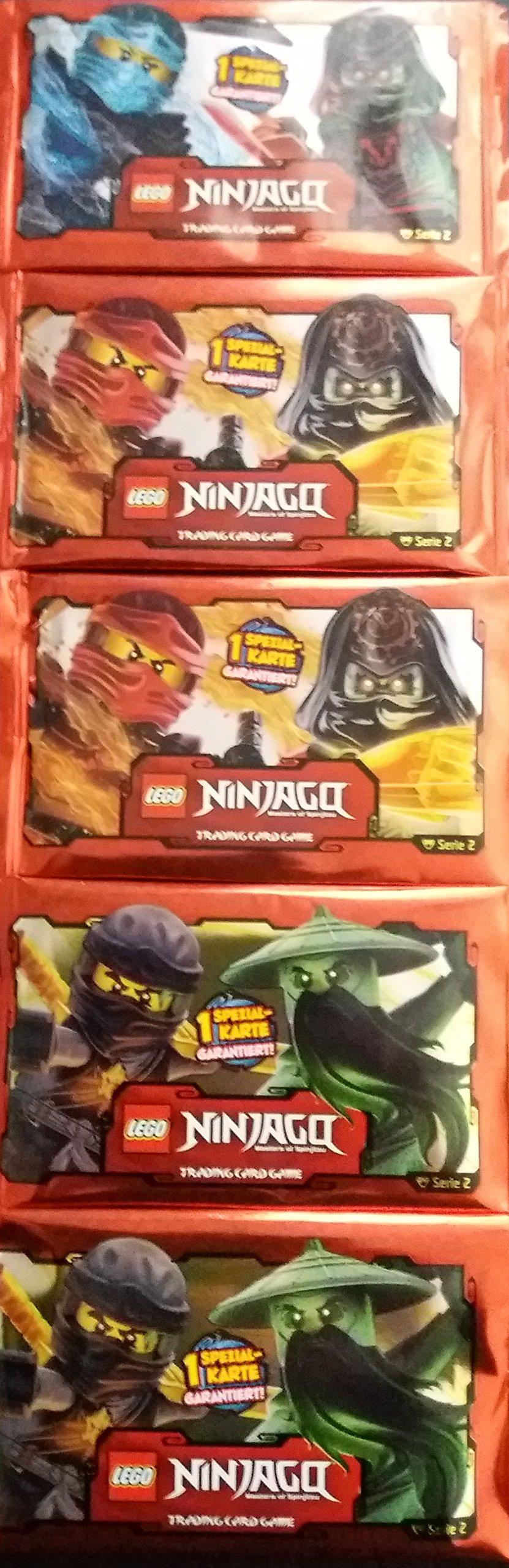 5 Booster LEGO Ninjago Cards Serie 2 - 5 Pack á 5 Trading cards