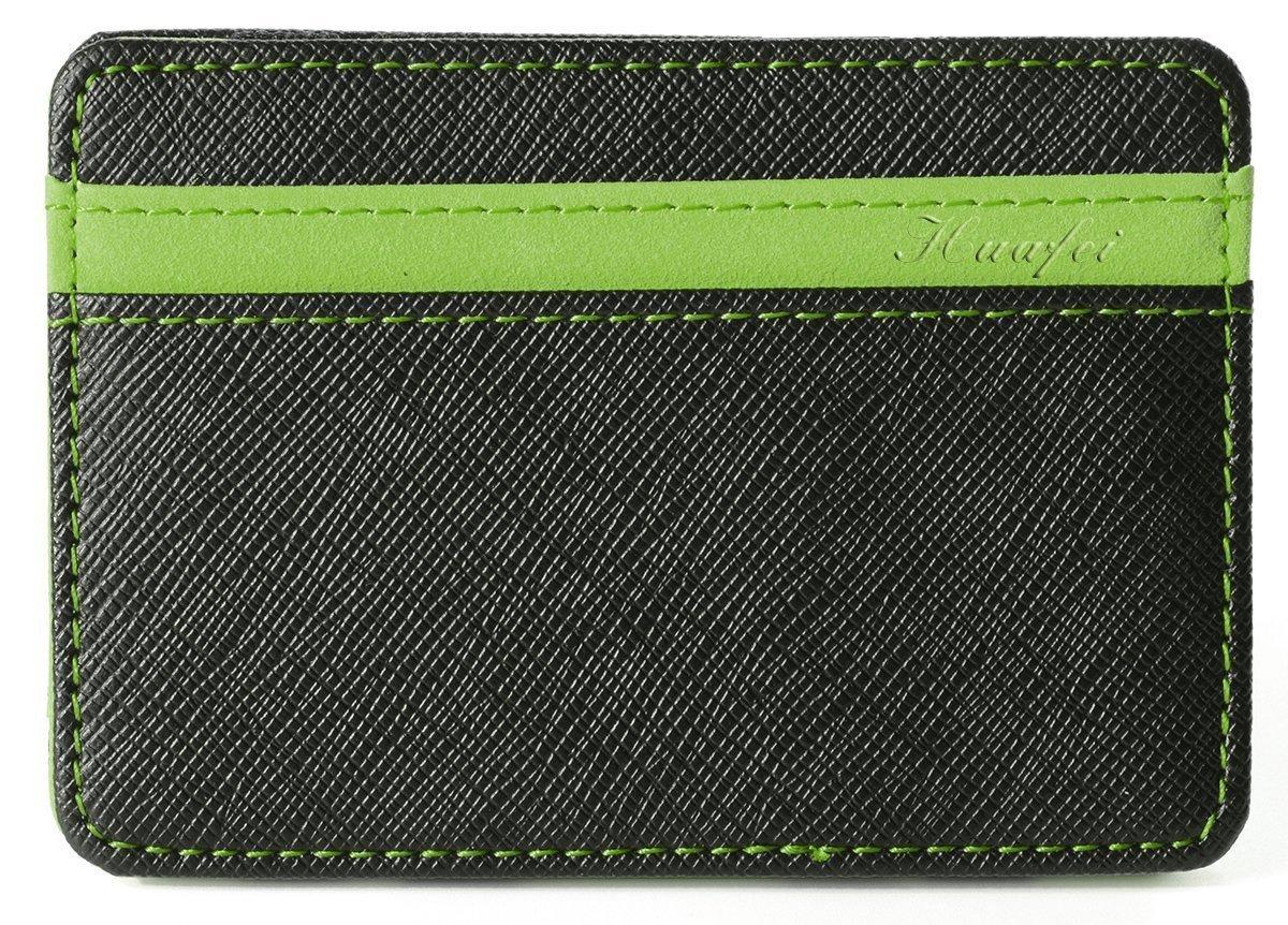 75225d0eb2 Portafoglio Magico in simili cuoio - magic wallet Credit Card Holder -  porta moneta (Verde