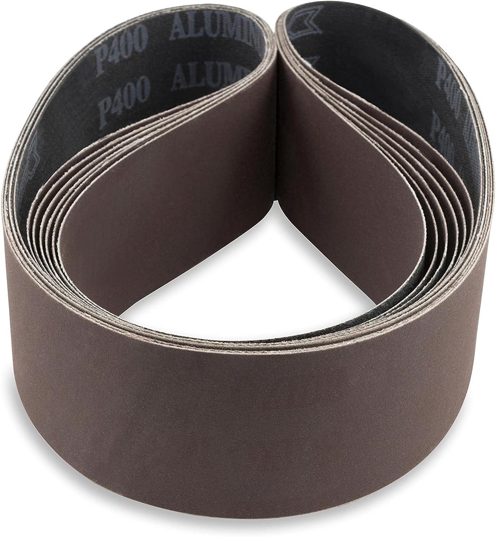 2 X 42 Inch 150 Grit Flexible Aluminum Oxide Multipurpose Sanding Belts 6 Pack