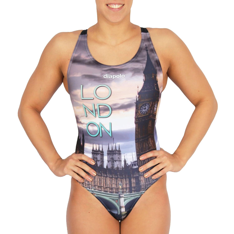 Diapolo London Badeanzug aus der City Kollektion für Schwimmen Synchronschwimmen Wasserball Thriathlon