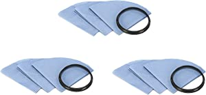 Shop Vac Reusable Dry Filter Disc, Filters & Mounting Ring - 9 Pack