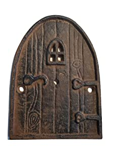 Lulu Decor, 100% Cast Iron, Miniature Fairy Door, Garden Ornament Ideal for Bottom of Trees (5-Inch)