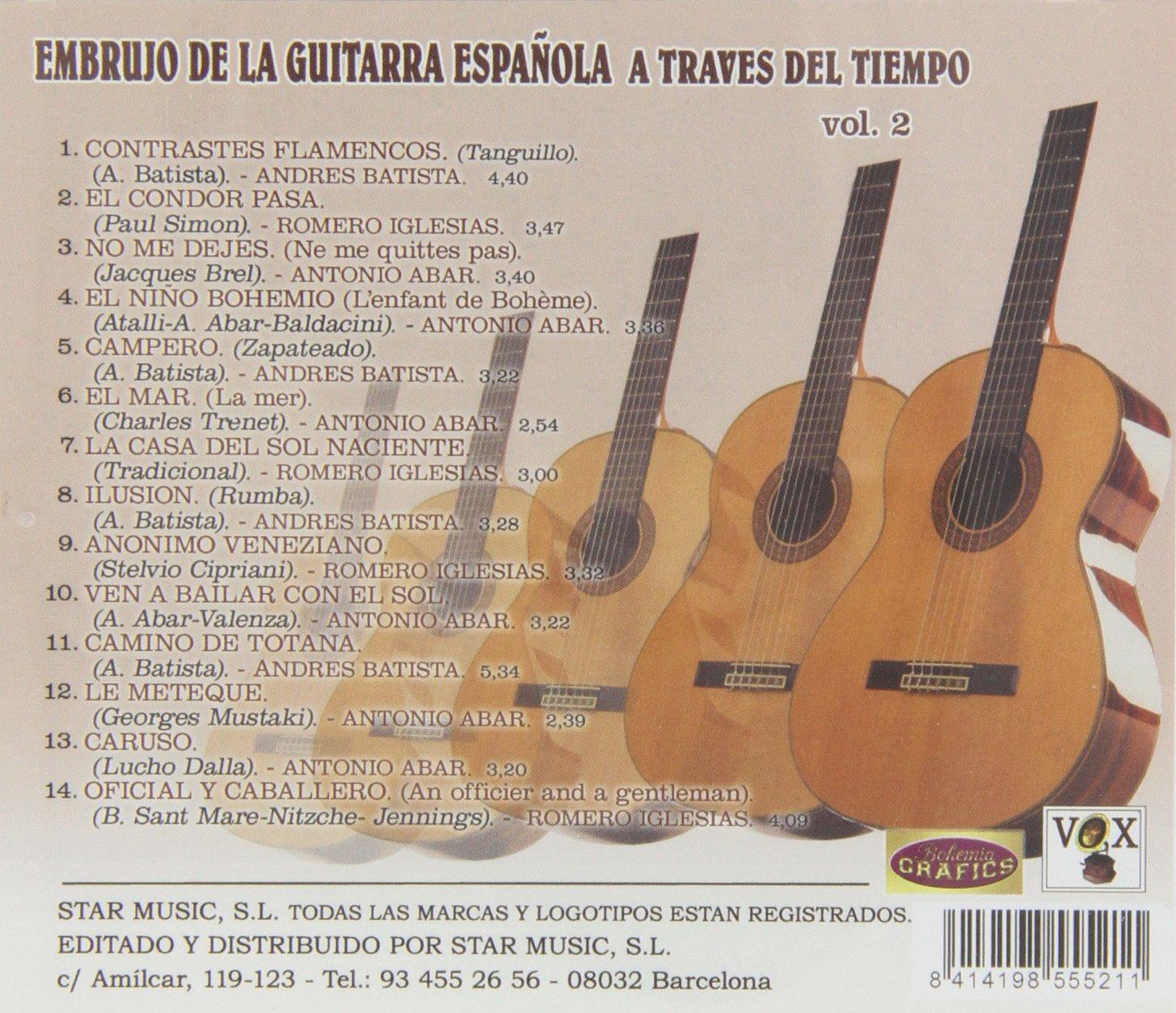 Embrujo De La Guitarra Española A Través Del Tiempo - Volumen 2 ...