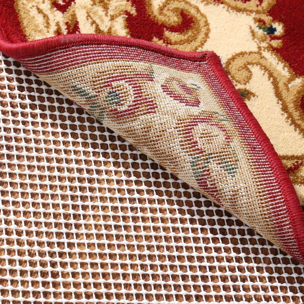 Rose Home Fashion RHF Non-Slip Area Rug Pad 5' x 7' - Protect Floors While Securing Rug and Making Vacuuming Easier 5x7