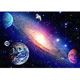 Papier Peint Photo Mural INTISSÉ-(679V) SYSTÈME SOLAIRE -250x180 cm -5 lés 50x180 cm- de haute qualité impression NUMÉRIQUE photo réaliste! Colle spéciale pour INTISSÉ- Non Woven - Poster Géant XXL- Galaxie Planet Univers Ciel Soleil Nature -Salon Nursery Cuisine