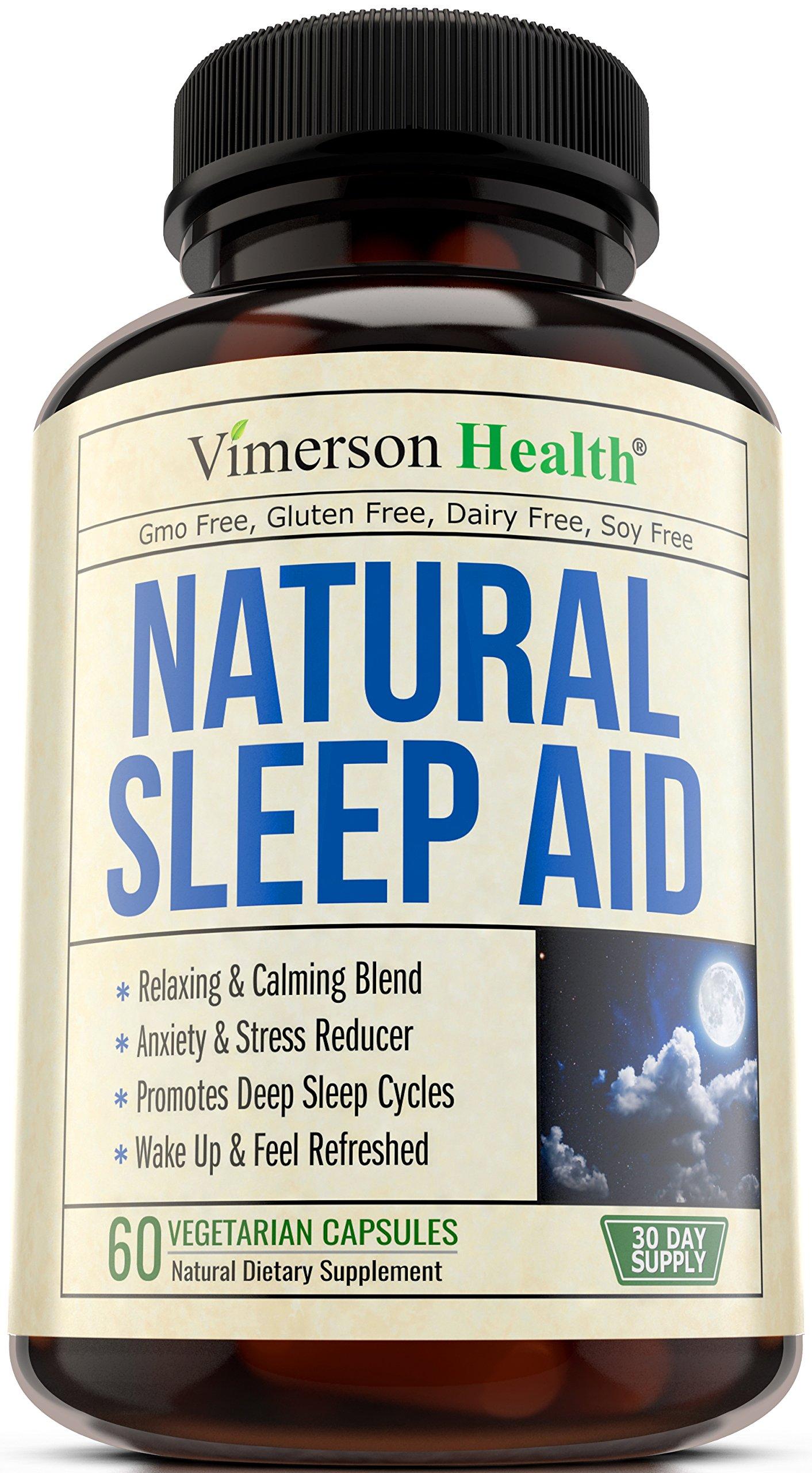 Natural Sleep Aid Pills - with Valerian, Melatonine & Natural Herbs - Premium Quality Sleeping Supplement with Chamomile, Vitamin B6, L-Tryptophan, Ashwagandha, L-Taurine, St. John's Wort, L-Theanine