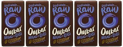 Ombar, Chocolatina Ecológica de chocolate negro con crema de Coco -Pack de 5 unidades de 35 gr: Amazon.es: Alimentación y bebidas