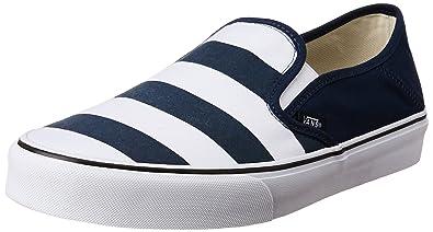 9920b86811 Vans Men s Slip-On Sf (Stripes) Dress Blues Loafers and Moccasins - 10
