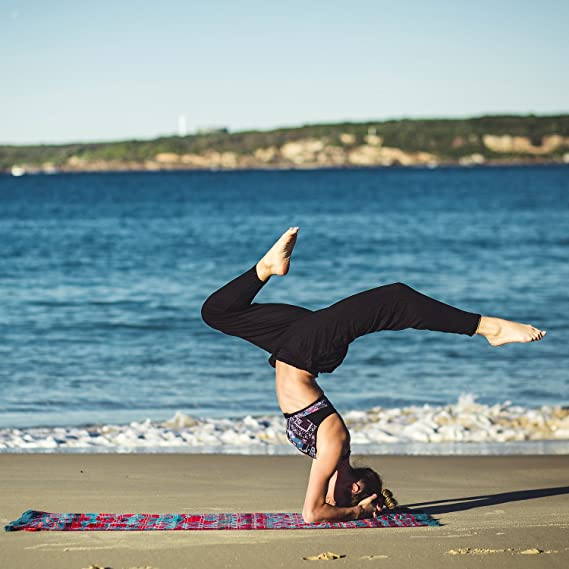 Yopin Pantalones de Yoga para Mujer, Pantalones de Yoga, Pantalones de Yoga, Pantalones Largos, Morado, Large