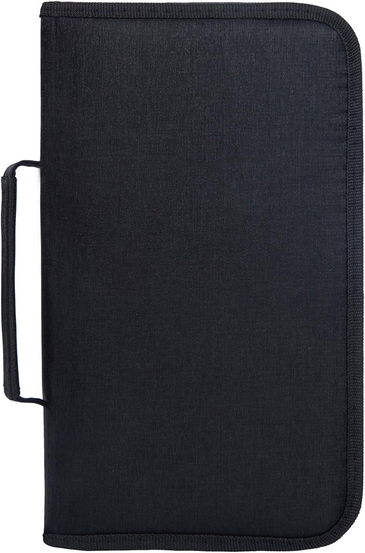 Fasmov 128 Disc CD/DVD Binder DVD Wallet Case, Black