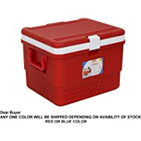 Aristo Plastic Insulated Icebox, 25 Liter, Red/Blue