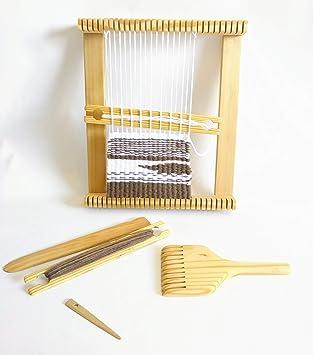 16 x 24 inch Weaving Loom con diseño de cabra, volantes y cobertizo Stick. Incluye aguja: Amazon.es: Juguetes y juegos