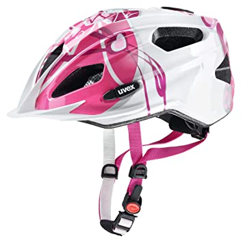 Uvex Quatro Junior - Casco de Ciclismo para niños, Color Rosa/Plata, Talla