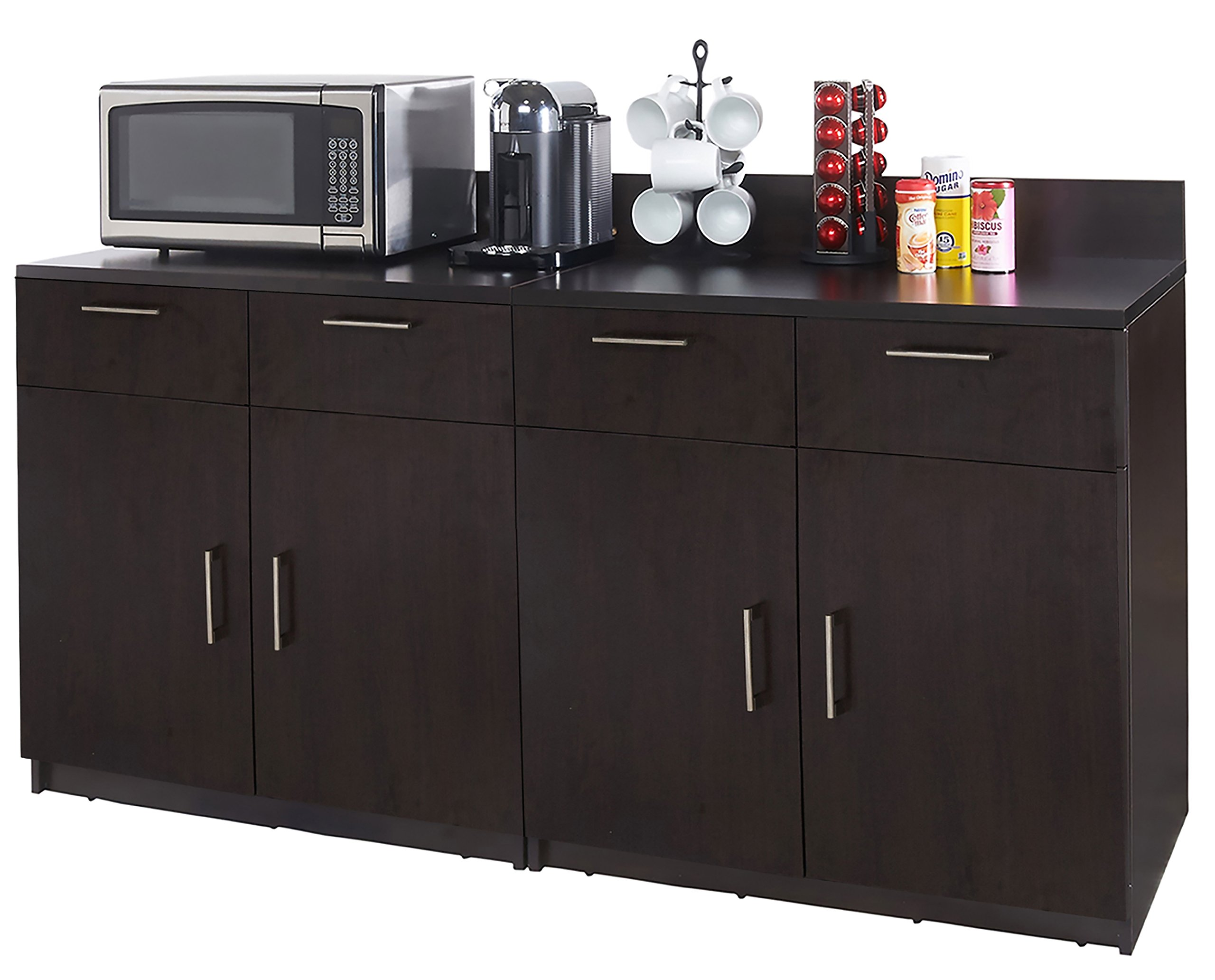 Coffee Kitchen Lunch Break Room Cabinets Model 4346 BREAKTIME 2 Piece Group Color Espresso - Factory Assembled (NOT RTA) Furniture Items ONLY. by Breaktime (Image #1)