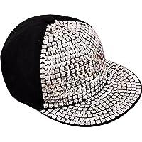 Babji Silver Acrylic Hip Hop Cap