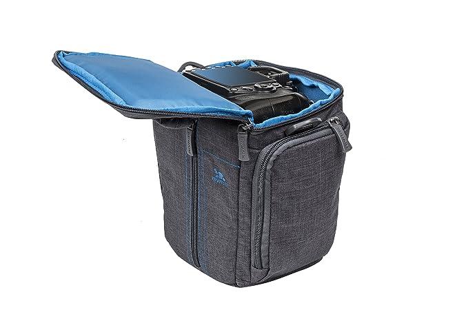 Rivacase SLR Canvas Case - Funda para cámara réflex, Gris: Amazon ...