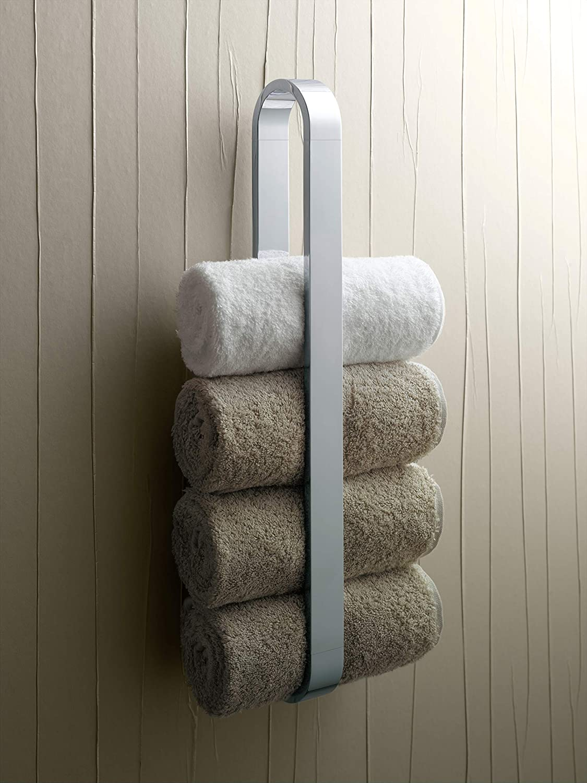 KEUCO Handtuchhalter aus Metall hochglanz verchromt einarmig vertikal 46 5cm hoch für Badezimmer und Gäste Toilette Wandmontage Edition 300