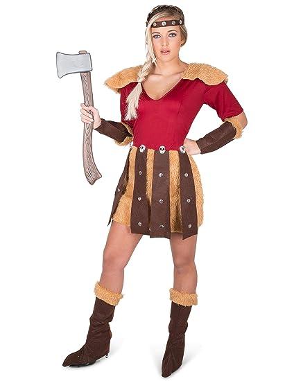 Generique - Disfraz Vikingo de los Dragones Mujer S: Amazon ...