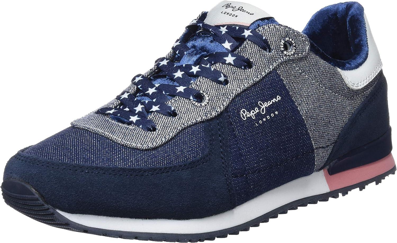 Pepe Jeans Sydney Denim Lame, Zapatillas para Niñas: Amazon.es: Zapatos y complementos