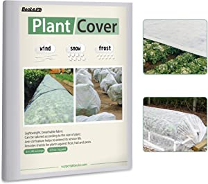 Becko Plant Cover Freeze Protection 0.9 oz/yd² 8 x 24 Ft Reusable Plant Cover Garden Covers for Winter Snow Freeze Frost Protection Cover for Seed Germination Anti-UV Fabric