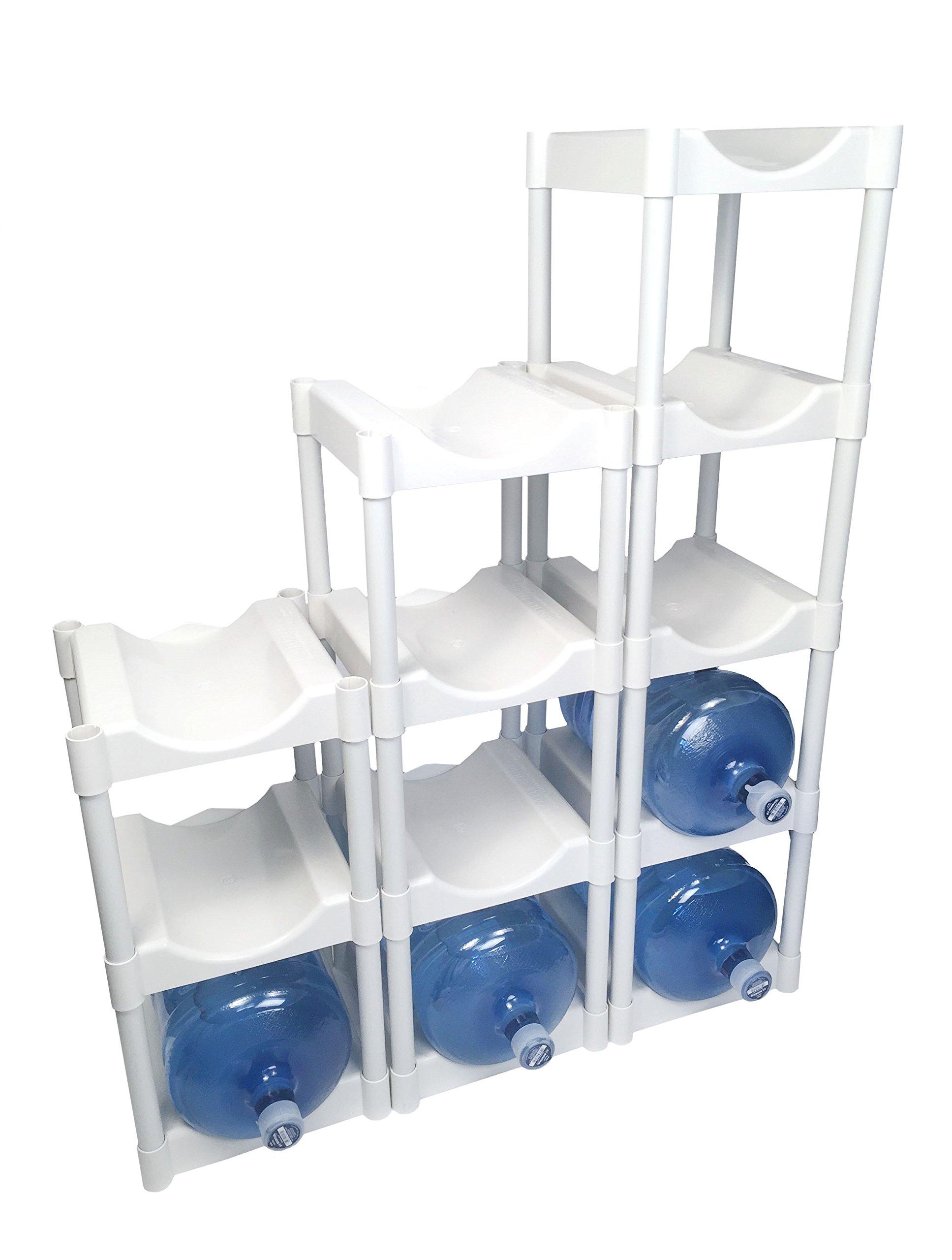 Bottle Buddy Storage System, White, 12-Pack