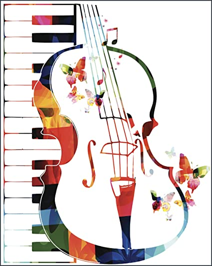 Amazon Pretty Piano Violin Rainbow Musical Symbol Icon Vinyl