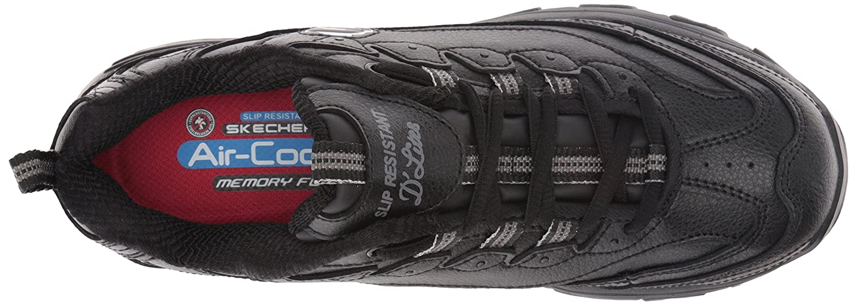 Skechers for Work Women's D'Lites Slip-Resistant Marbleton Shoe B01KW7L0FE 9.5 B(M) US Black