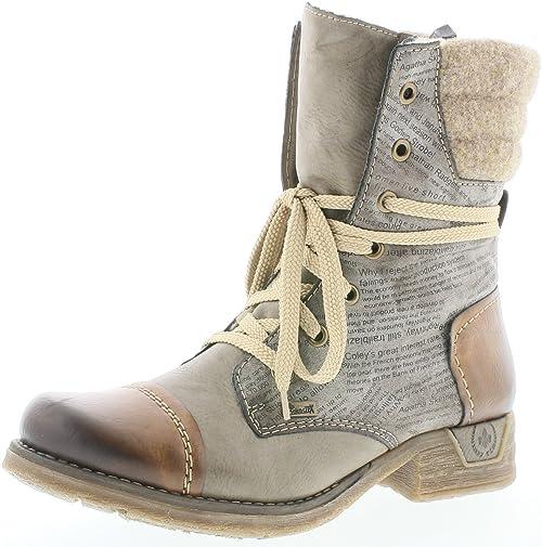 Rieker 79631 Damen Stiefel, Stiefelette, Schnürstiefel, Boot 4AojF