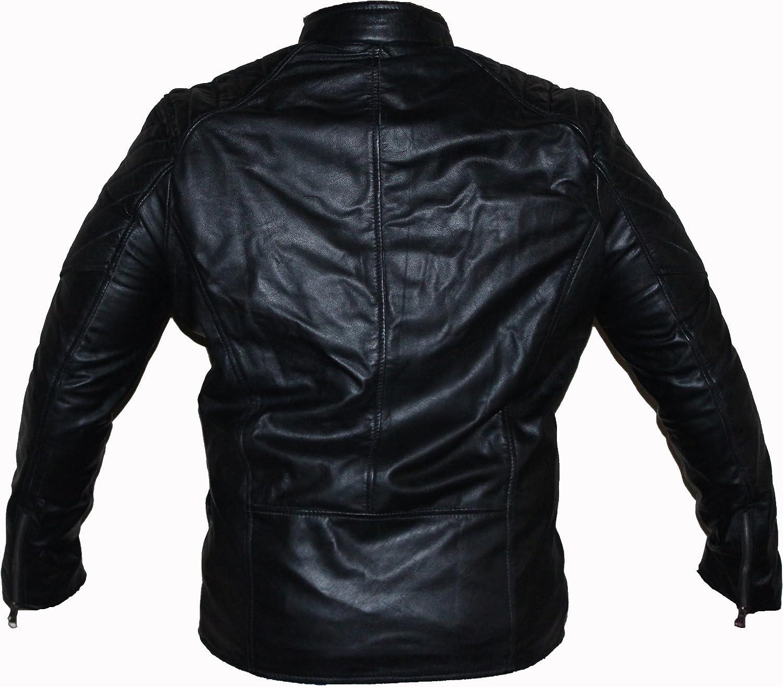 coolhides Mens Black Leather Jacket
