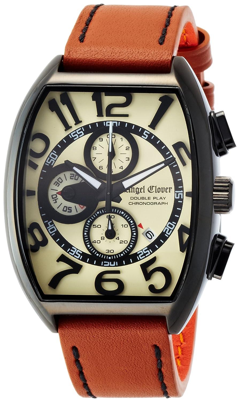 Angel Clover Herren Unisex-Uhr Double Play Kalbslederband Datum Chronograph DP38BSB-LB