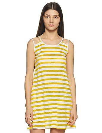 162ad6c8c8 Clovia Women's Cotton Rich Striped Short Nighty: Amazon.in: Clothing &  Accessories