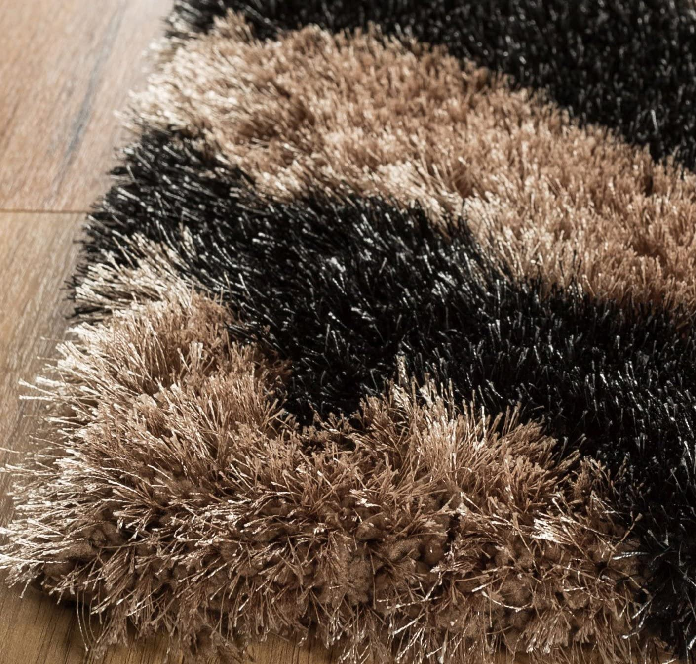 Home Way 2.7-Feet-by-7.3-Feet Thick Plush Shag Area Rug
