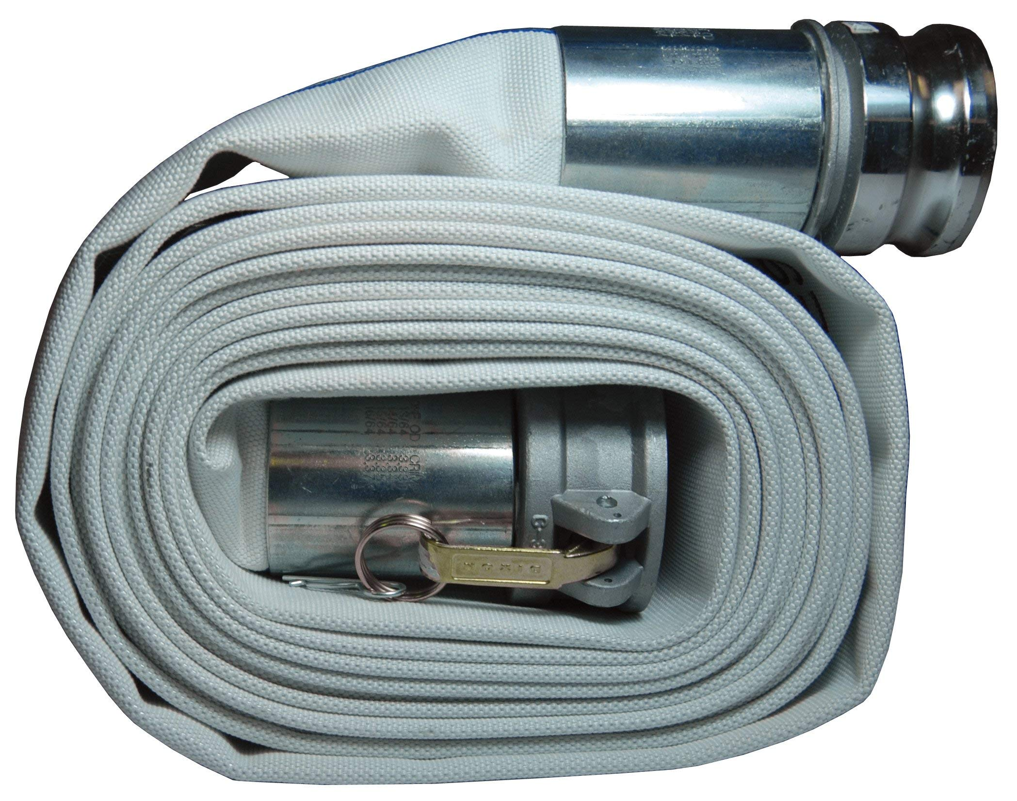 Dixon M20-25GAX Synthetic Mill Hose Assembly W/Global Aluminum Cam and Groove (C and E) Ends, 112 psi, 25' Length, 2'' ID by Dixon