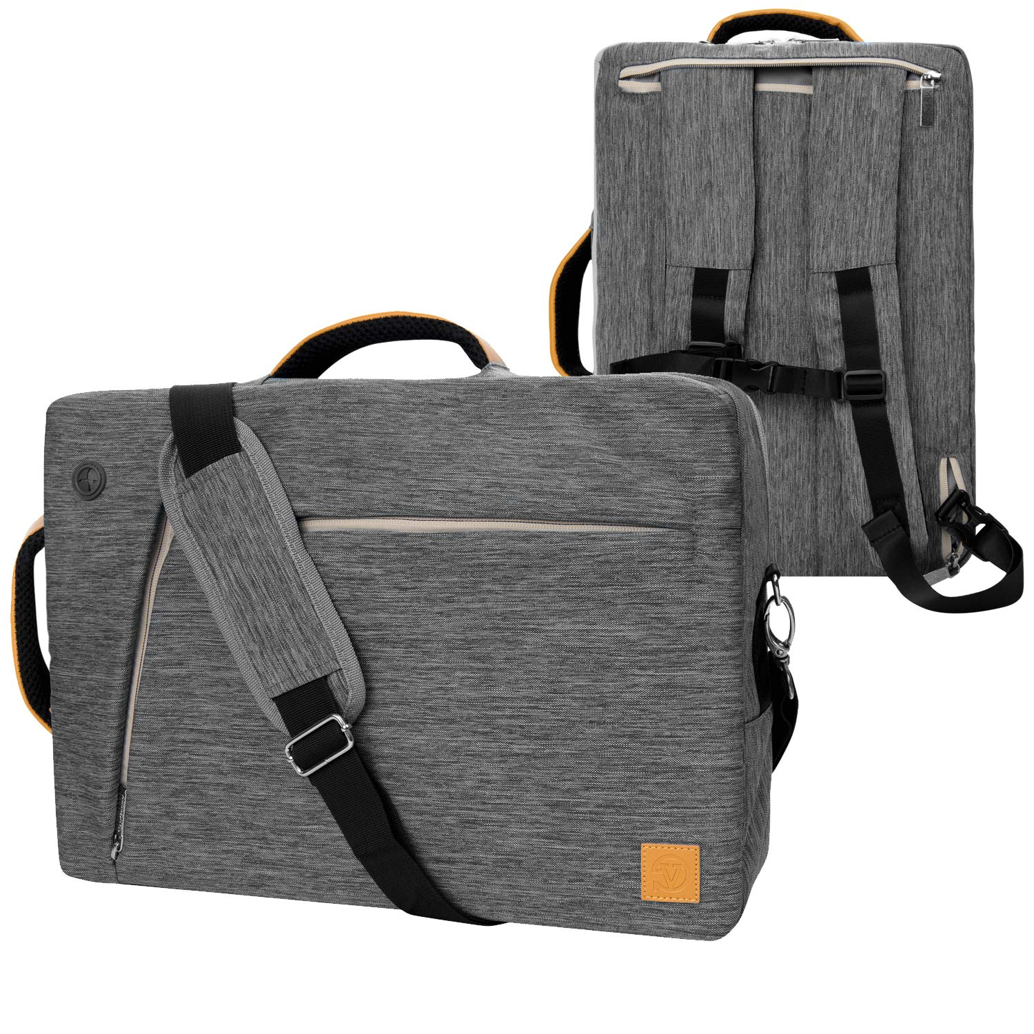 VanGoddy Slate Gray Convertible Laptop Bag for 14'' to 15.6-inch Dell Latitude, Inspiron, Chromebook, Precision, XPS, Vostro, G3 G5 G7 Gaming, Alienware m15